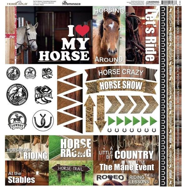 Horseplay 12x12 Sticker Sheet