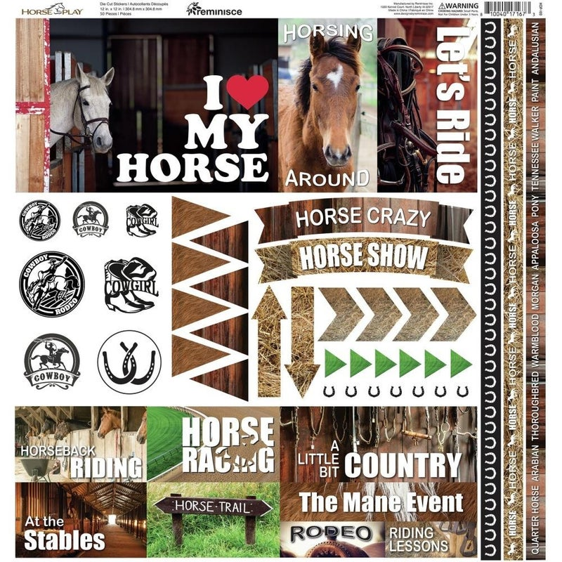 Horseplay 12x12 Sticker Sheet