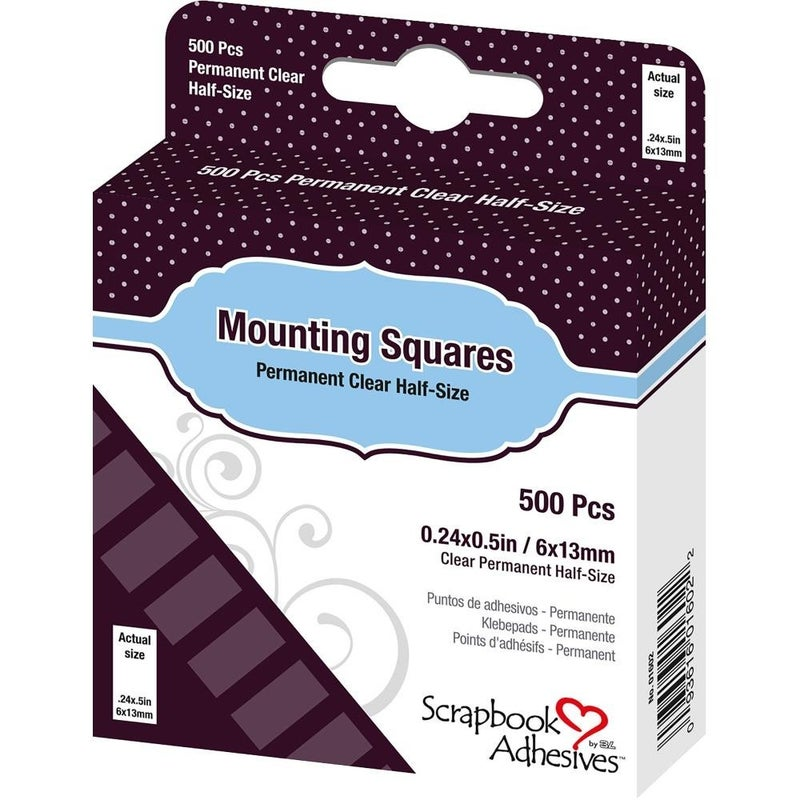 Adhesive Mounting Squares .25x.50in