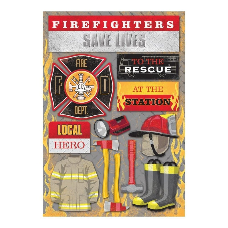 Firefighter Cardstock Stickers