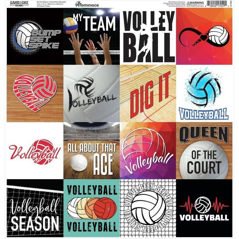 Game Day Volleyball 12x12 Sticker Sheet