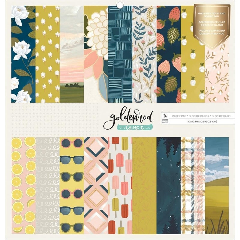 Goldenrod with Gold Foil Paper Pack