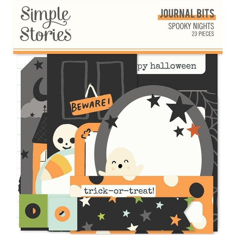 Spooky Nights Halloween Journal Bits Die Cuts