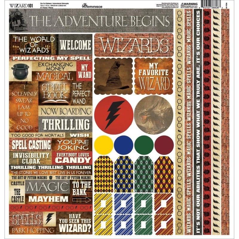Wizard 12x12 Sticker Sheet
