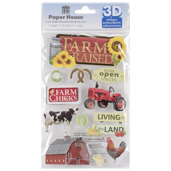 Farm Raised 3D Stickers