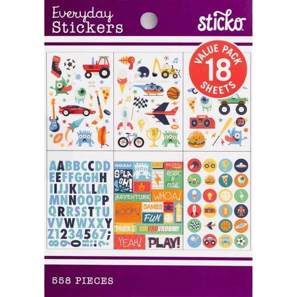 Boy Sticker Pad