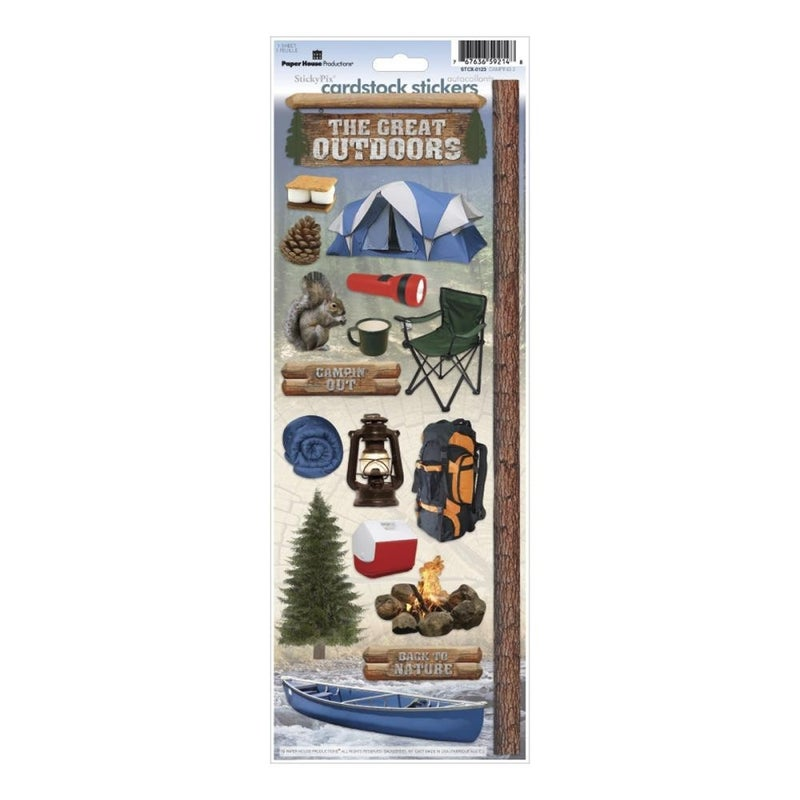Camping Cardstock Stickers