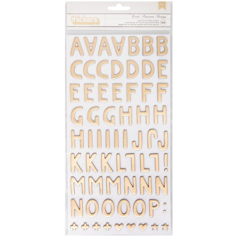 Creek Gold Foil Alphabet Thickers