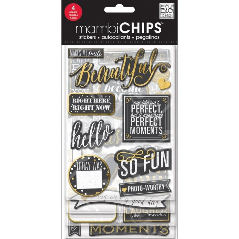 Makes Me Smile Mambi Chipboard Stickers