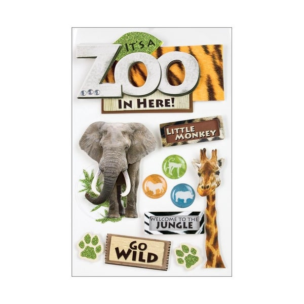Zoo Animal 3D Stickers