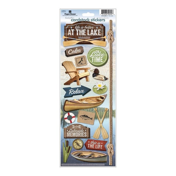 At the Lake Cardstock Stickers