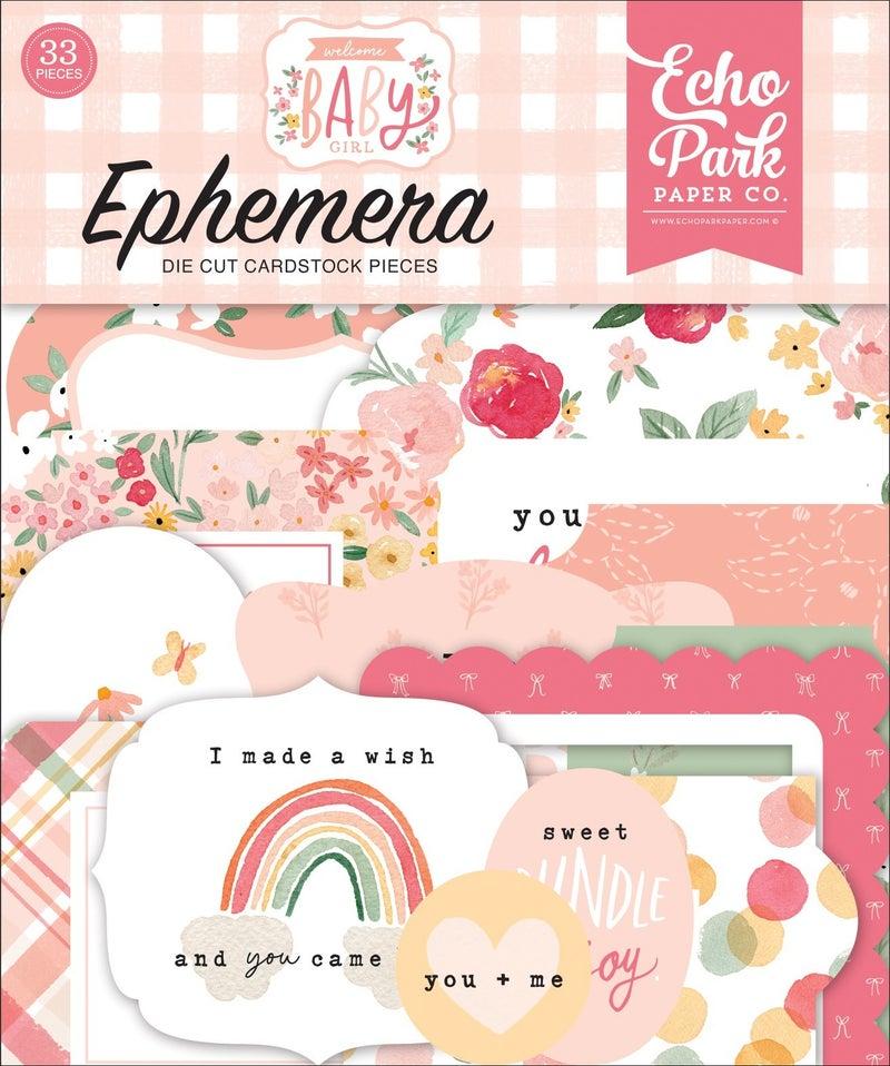 Welcome Baby Girl Ephemera