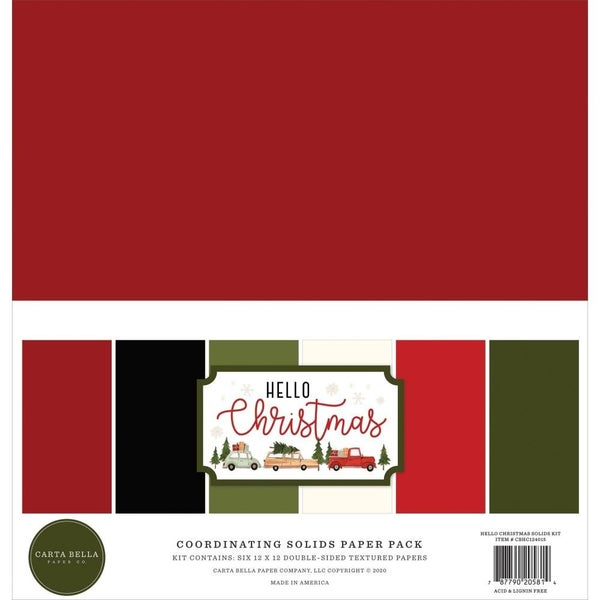 Hello Christmas 12x12 Solids Pack