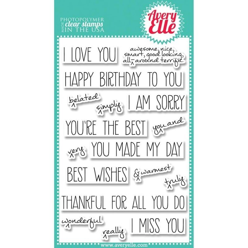 Hand Notes Clear Stamp Set