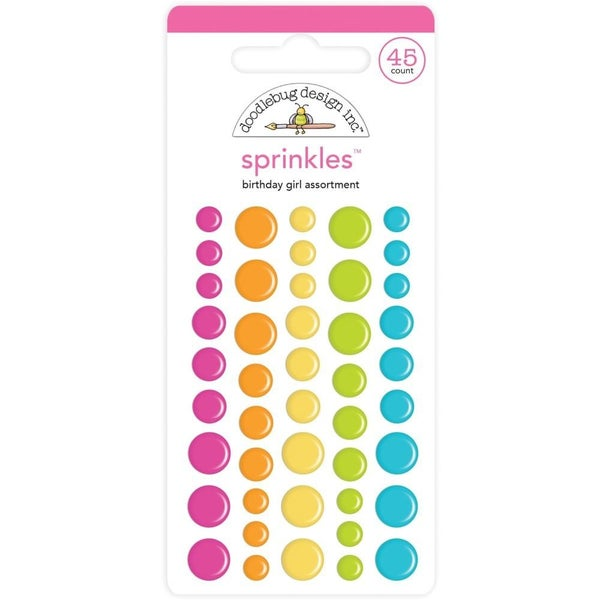 Doodlebug Sprinkles Enamel Dots - Birthday Girl