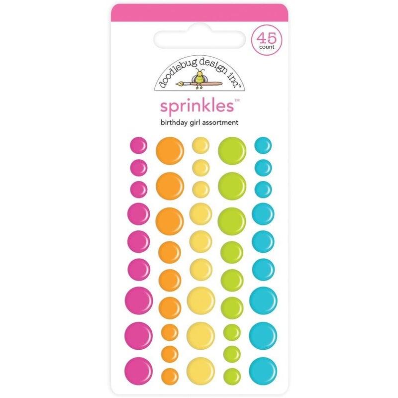 Doodlebug Sprinkles Enamel Dots - Birthday Girl
