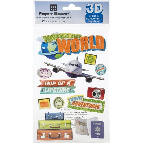 World Traveler 3D Stickers