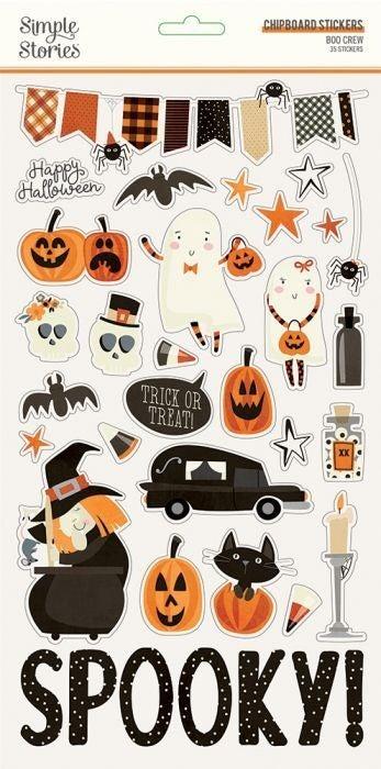 Boo Crew Chipboard Stickers
