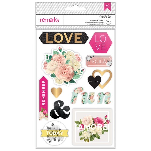 Cest La Vie 3D Love Stickers