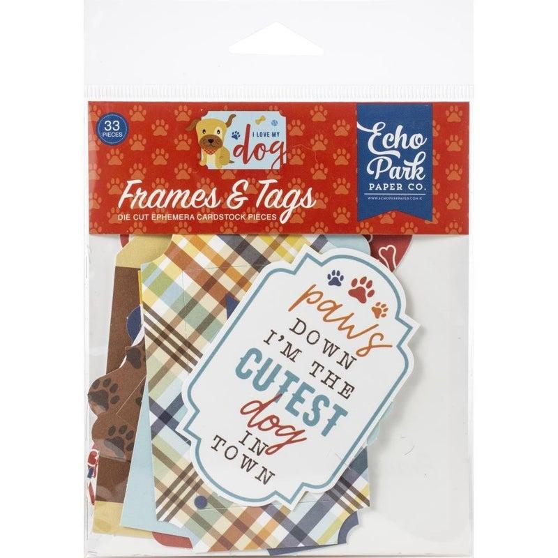 I Love My Dog Ephemera - Frames and Tags