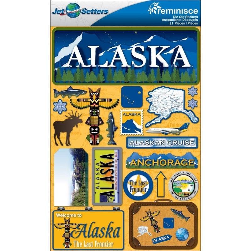 Jet Setters Alaska Stickers