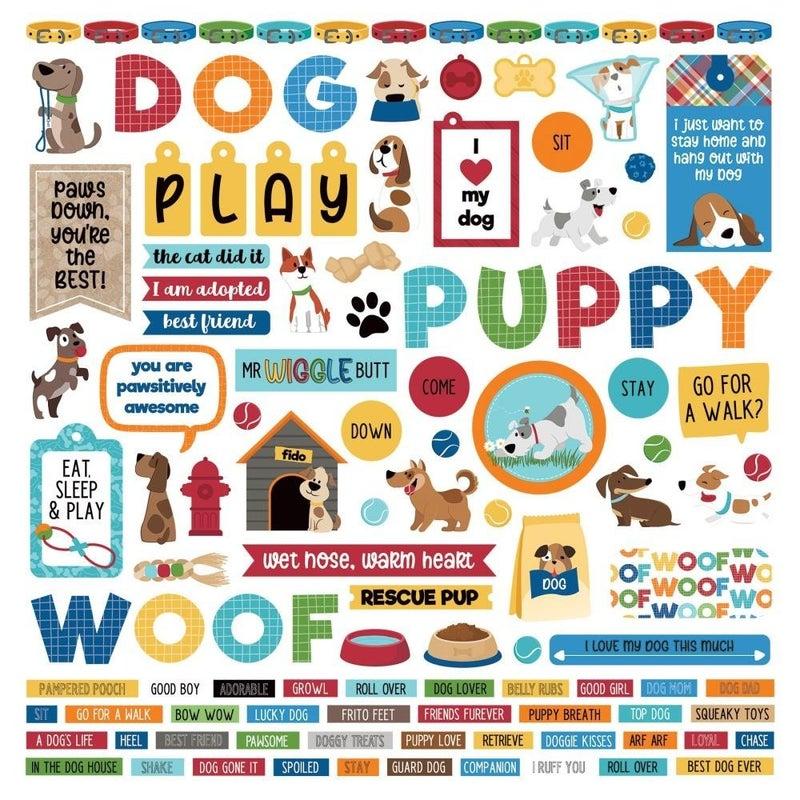Dog Lover 12x12 Sticker Sheet