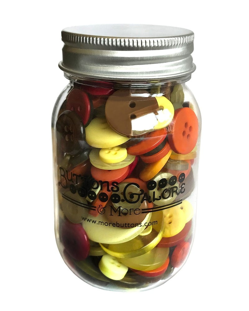Buttons Mason Jar - Harvest