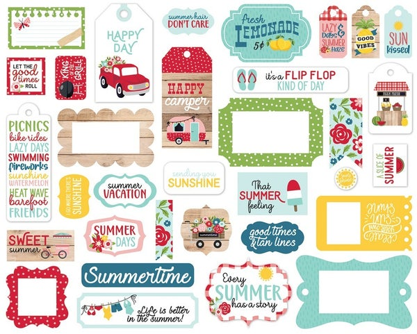 A Slice of Summer Frames & Tags Die Cuts