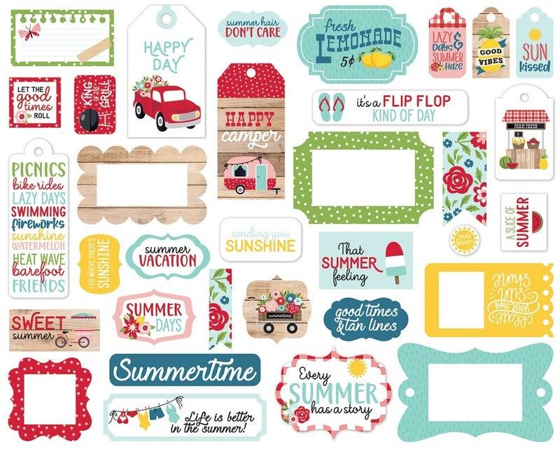 A Slice of Summer Frames & Tags Die Cuts