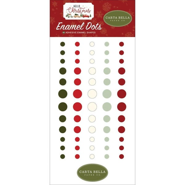 Hello Christmas Enamel Dots