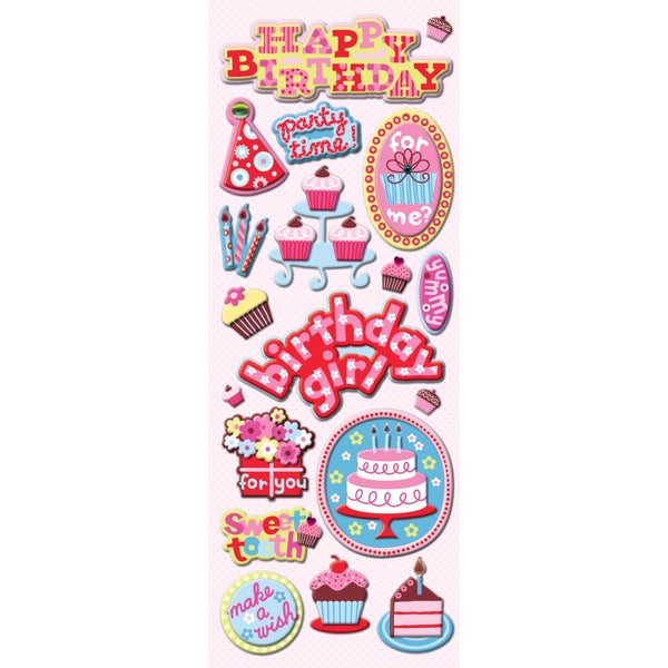 Birthday Chipboard Stickers