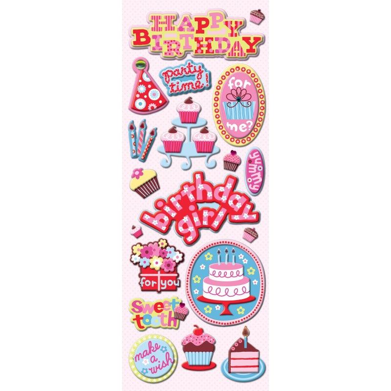 Birthday Chipboard Stickers