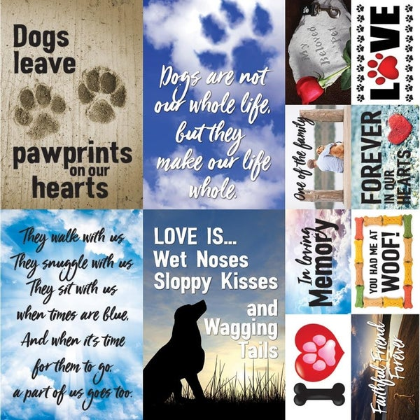 PawPrint 12x12 Sticker Sheet