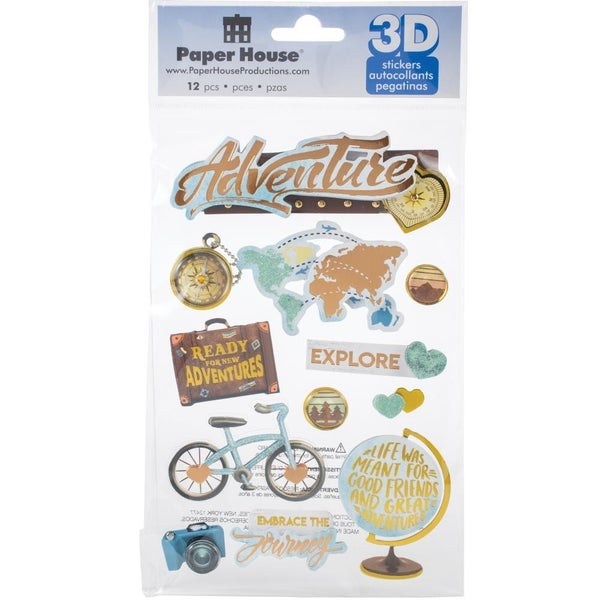 3D Adventure Stickers