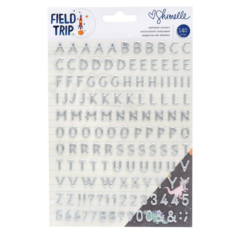 Field Trip Silver Alphabet Stickers