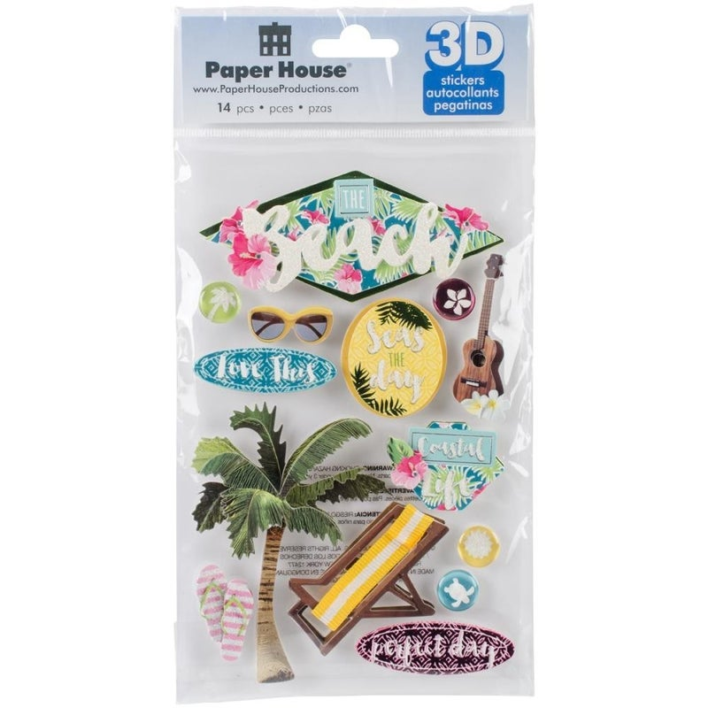 At the Beach 3D Stickers