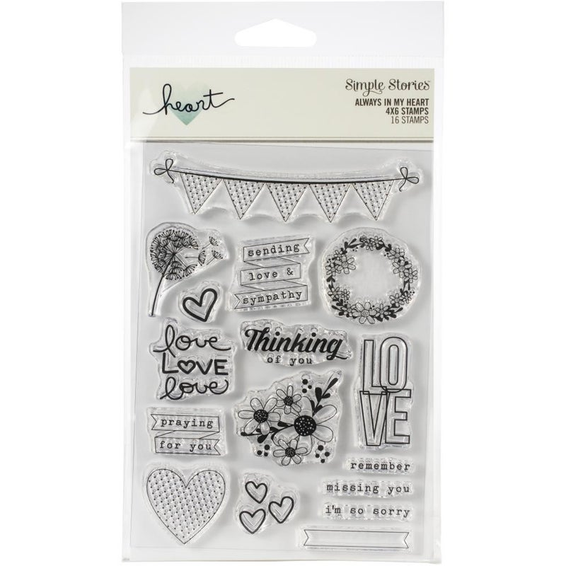 Always in my Heart Clear Stamps