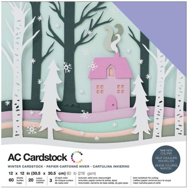 American Crafts Winter Cardstock Pack Qty 60