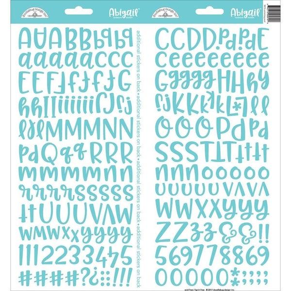 Abigail Alphabet Sticker - Swimming Pool Blue