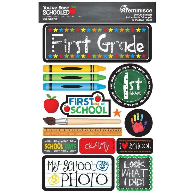 You've Been Schooled 1st Grade Stickers