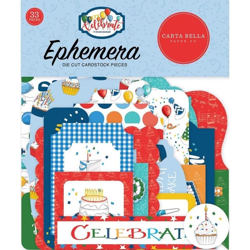 Let's Celebrate Birthday Bits & Pieces Ephemera Pack
