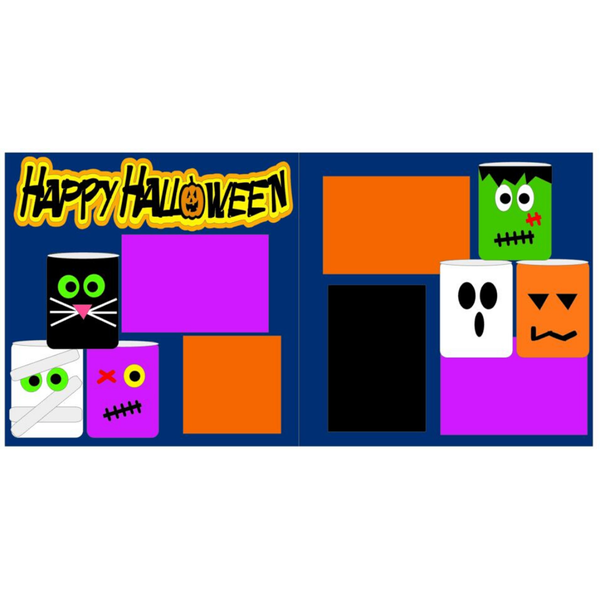 Happy Halloween Monsters Kit