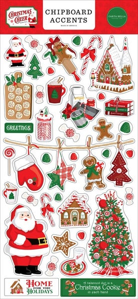 Christmas Cheer Chipboard Accents
