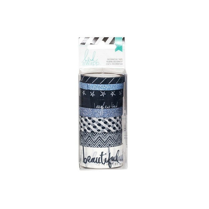 Navy & White Washi Tape 8 pk