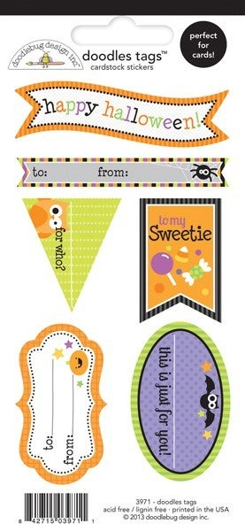 Halloween Tag Stickers