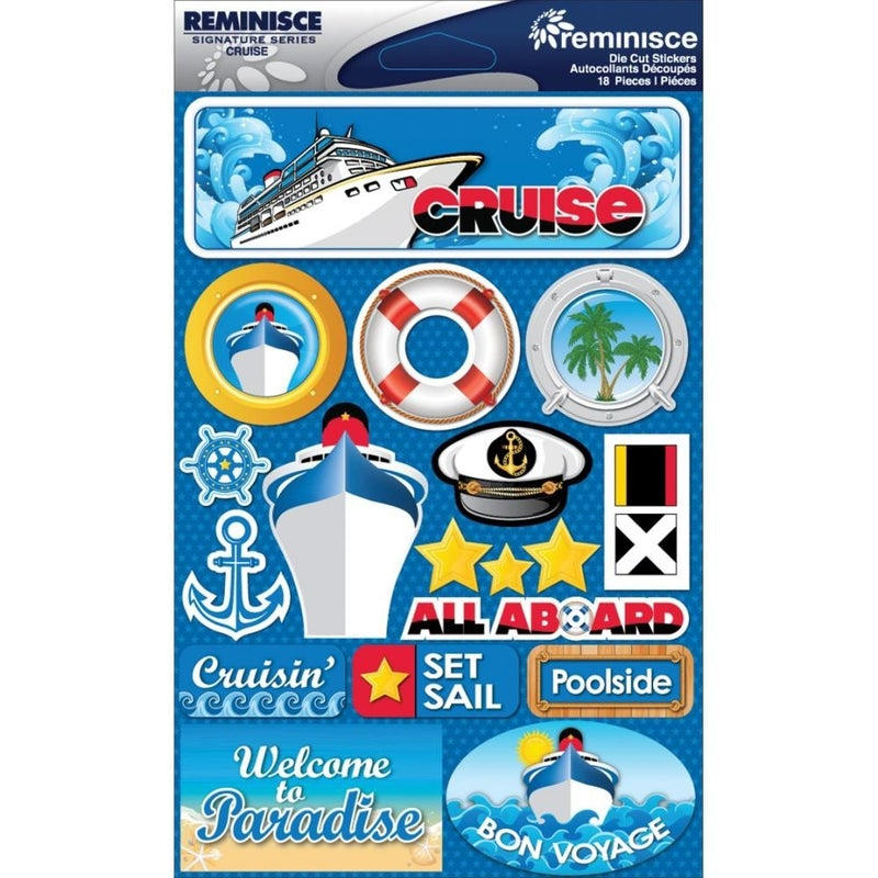 Cruise Travel 3D Stickers