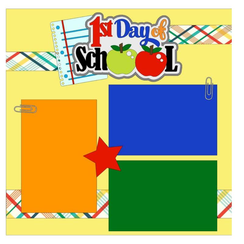 1st Day of School Blackboard Kit