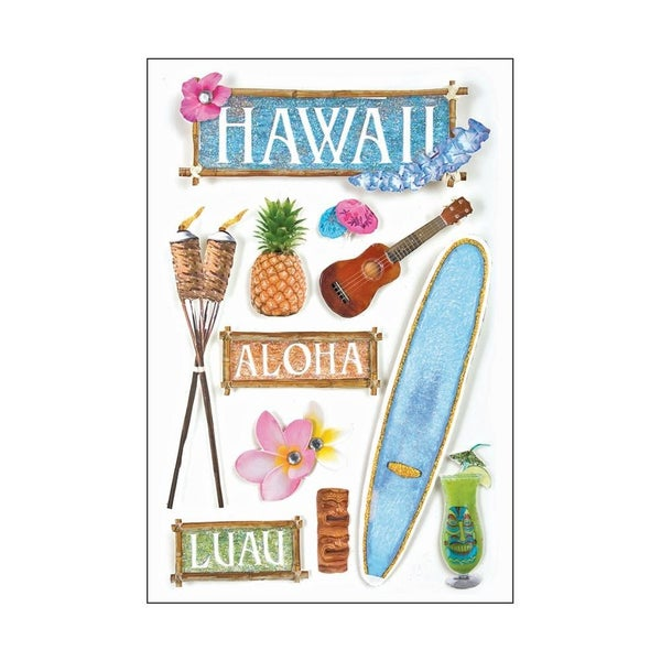 Hawaii 3D Stickers