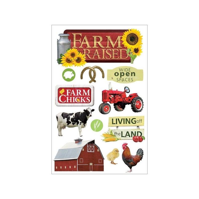 Farm Raised 3D Stickers