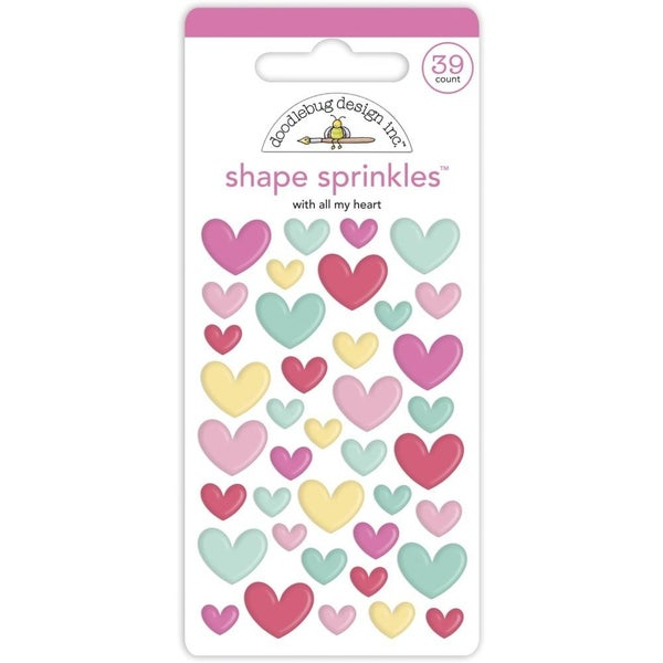 With All My Heart Shape Sprinkles